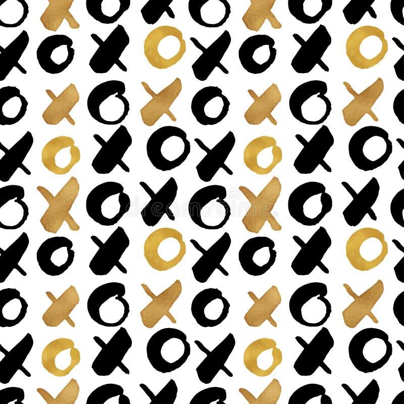 Le fond à la mode sans couture de blog donne une consistance rugueuse avec de l'or tiré par la main illustration stock