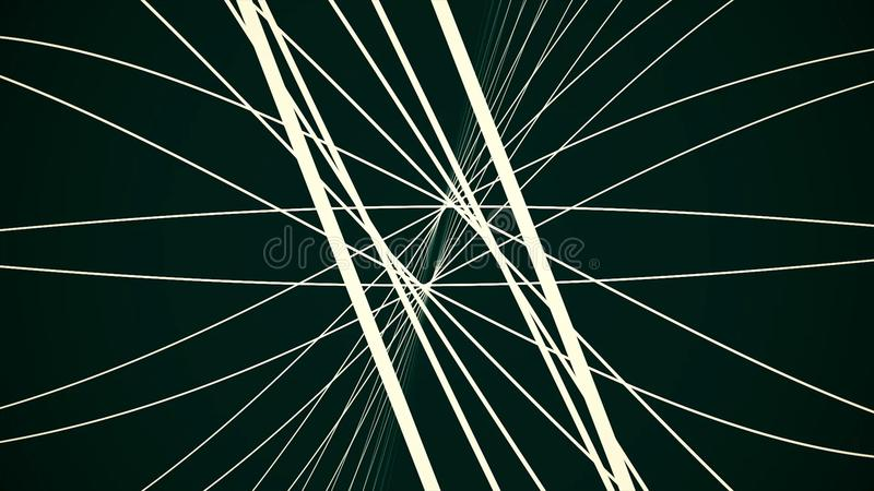 Le fond abstrait avec déplacer les lignes rougeoyantes numériques représentent le concept du câble optique de fibre Halo abstrait illustration libre de droits