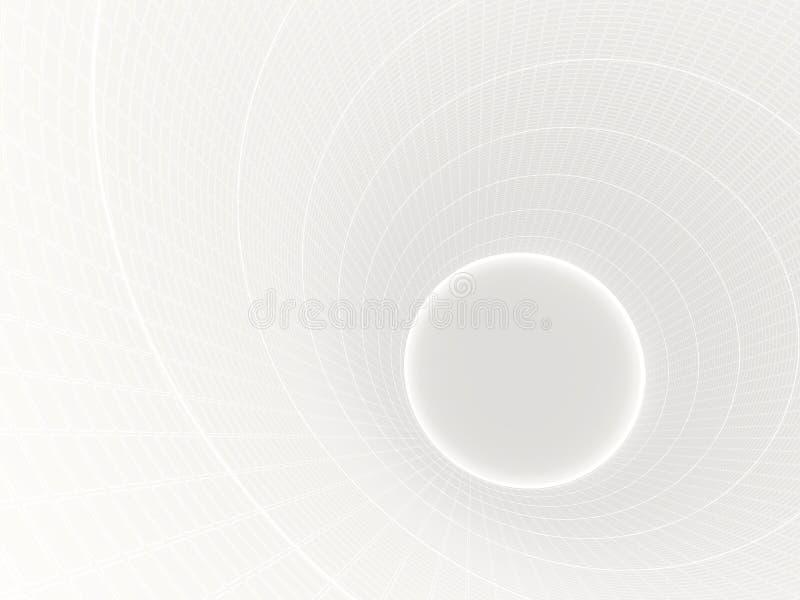 Le fond abstrait avec la forme 3d de cercle rendent illustration stock