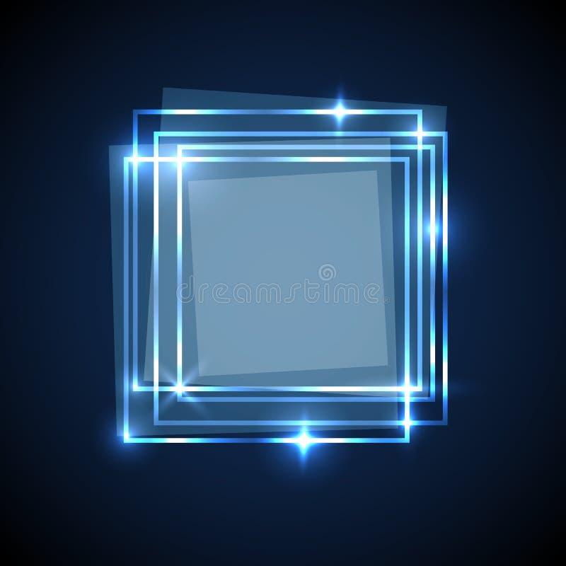 Le fond abstrait avec le bleu ajuste la bannière illustration stock