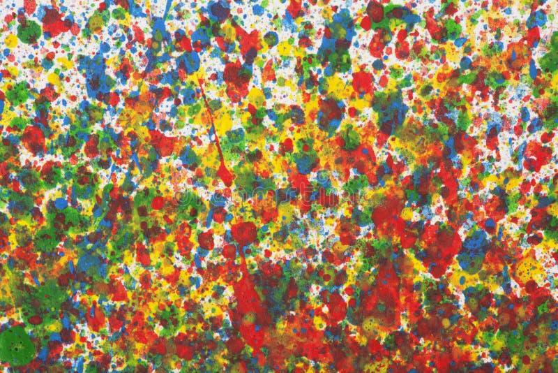 Le fond abstrait coloré avec l'aquarelle éclabousse photo libre de droits