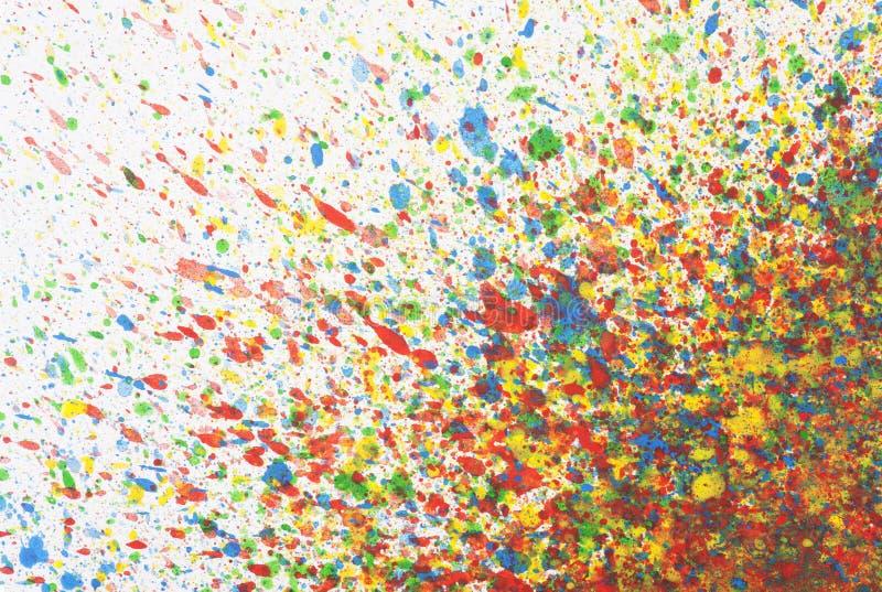 Le fond abstrait coloré avec l'aquarelle éclabousse images stock