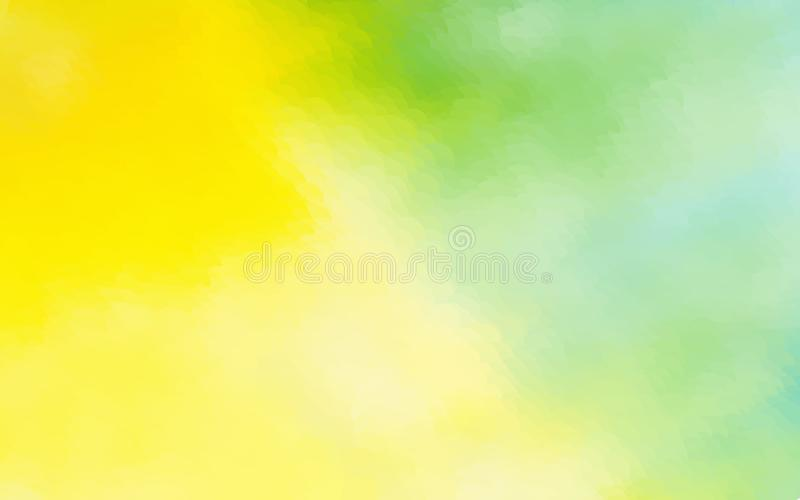 Le fond abstrait d'aquarelle de vert jaune a pointillé le desig graphique illustration stock