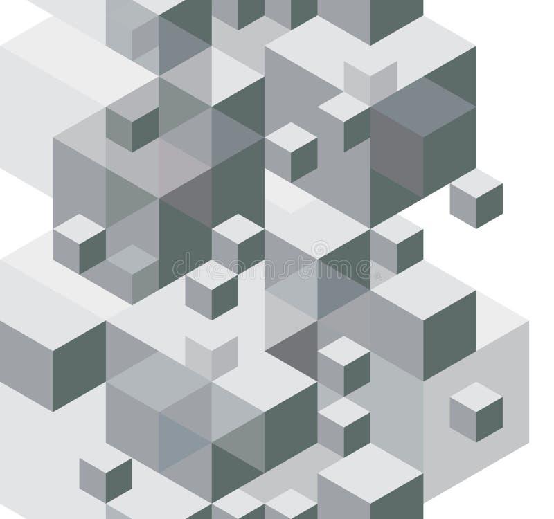 Le fond abstrait de conception, modèle sans couture, dirigent le monochrome illustration de vecteur