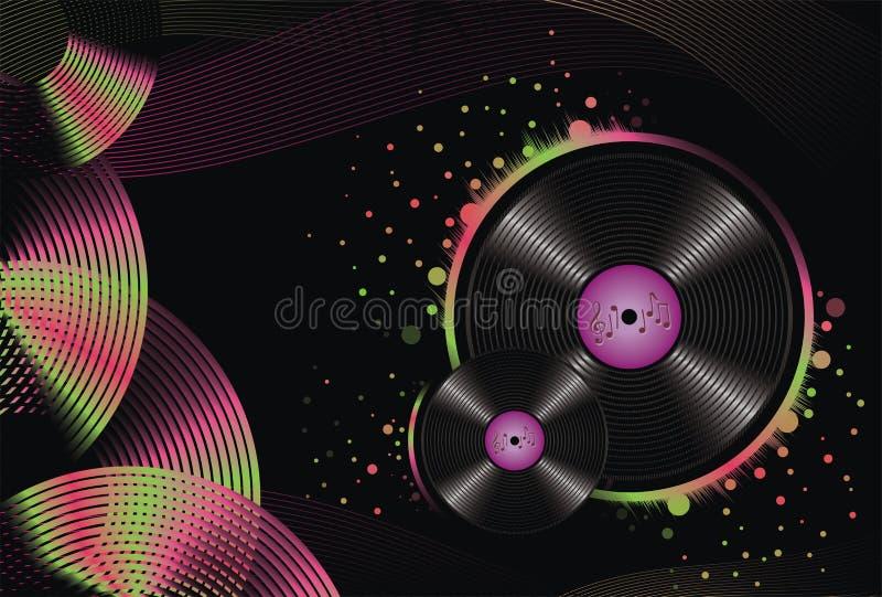 Le fond abstrait de musique annoncent illustration de vecteur