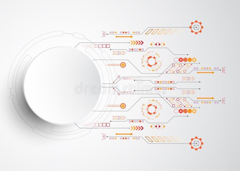 Le fond abstrait de vecteur montre l'innovation de la technologie et des concepts de technologie illustration stock
