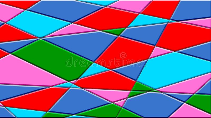 Le fond abstrait a des lignes et des formes géométriques image stock