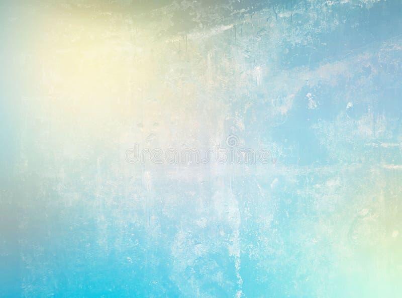 Le fond abstrait doux de gradient avec le blanc jaune bleu colore l'effet âgé porté par bannière graphique numérique photo libre de droits