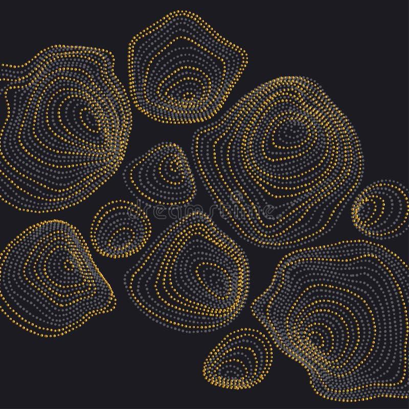 Le fond abstrait a inspiré par nature les formes en pierre illustration stock