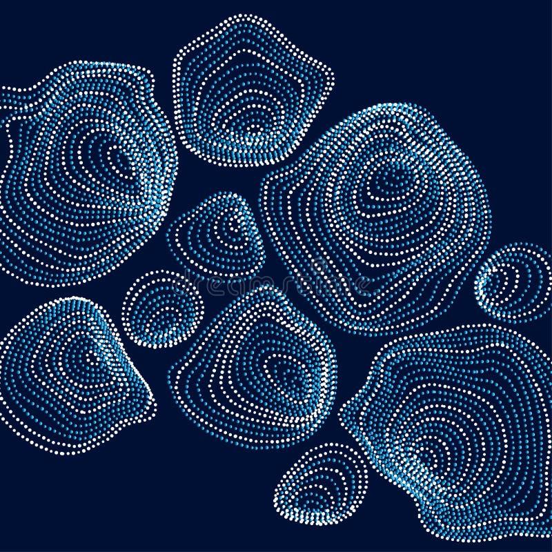 Le fond abstrait a inspiré par nature les formes en pierre IEM dynamique illustration libre de droits