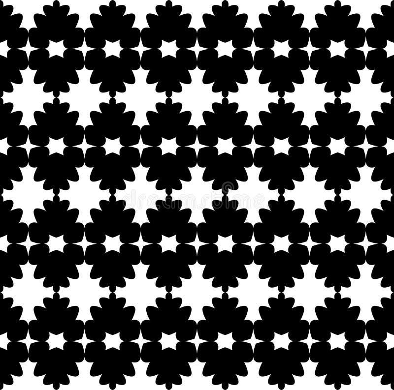 Le fond abstrait noir et blanc de vecteur et le modèle sans couture de répétition conçoivent illustration de vecteur