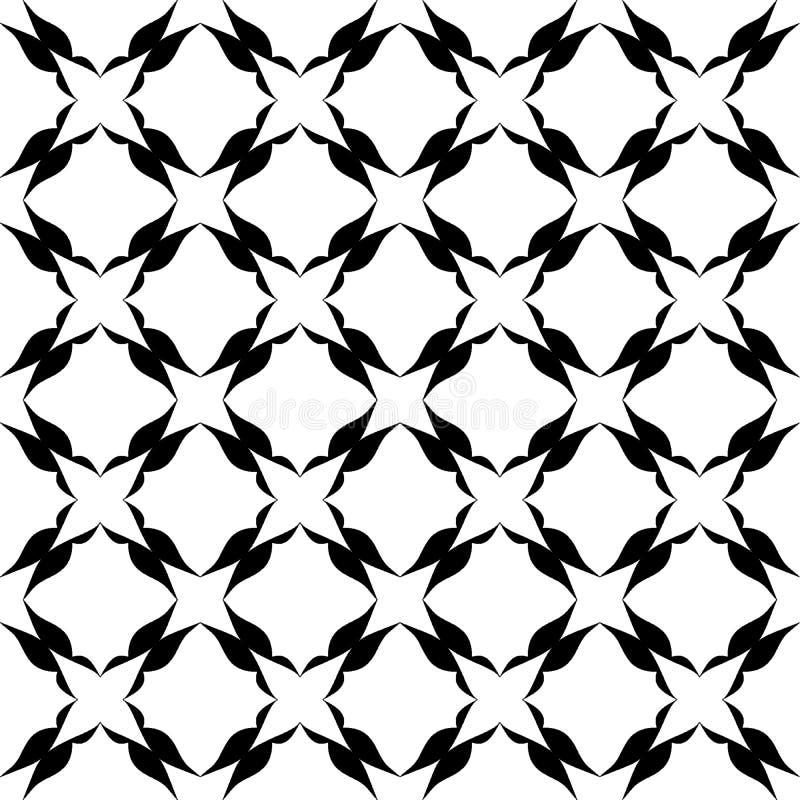 Le fond abstrait noir et blanc de vecteur et le modèle sans couture de répétition conçoivent illustration stock