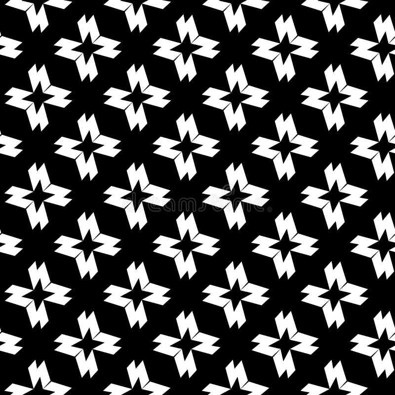 Le fond abstrait noir et blanc de vecteur et le mod?le sans couture de r?p?tition con?oivent illustration libre de droits