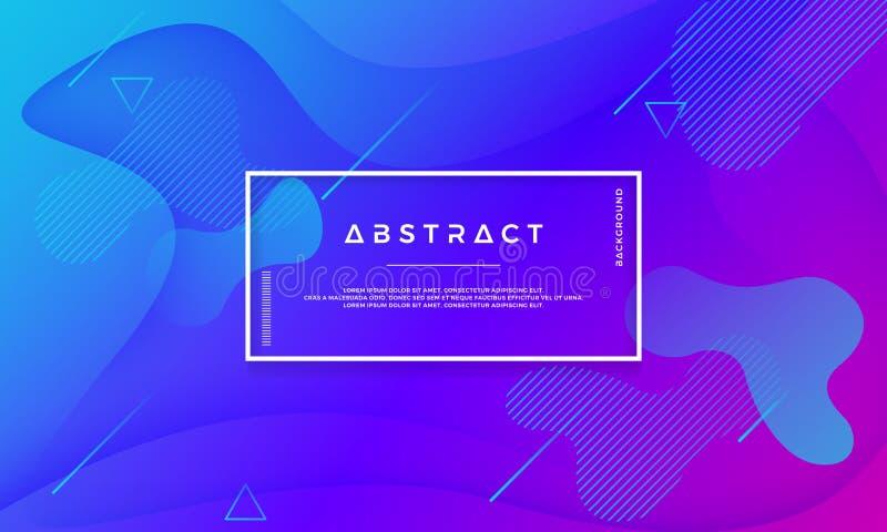 Le fond abstrait pourpre bleu convient au Web, à l'en-tête, à la bannière de Web, à la page de débarquement, au fond numérique et illustration stock
