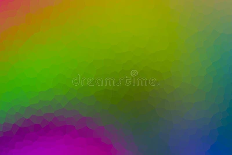 Le fond abstrait a souillé la base lumineuse verte jaune en verre de lilas de surface à facettes multiples extérieure illustration stock