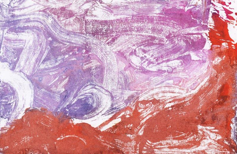 Le fond abstrait, texture peinte à la main, peinture d'aquarelle, éclabousse, chute de la peinture, calomnies de peinture photo libre de droits