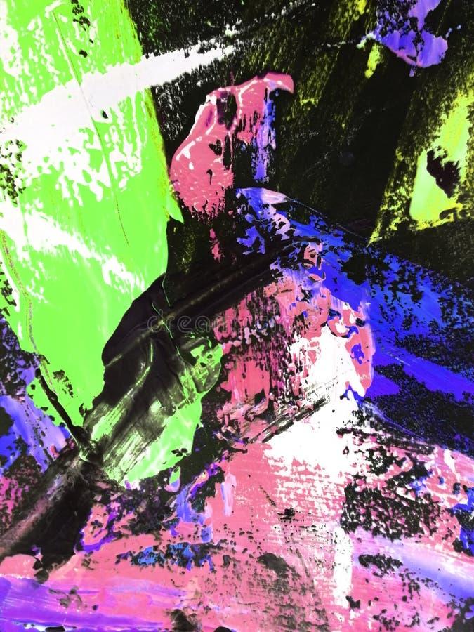 Le fond abstrait, textures peintes à la main, gouache, aquarelle, éclabousse, chute de la peinture, courses de peinture Conceptio photo libre de droits