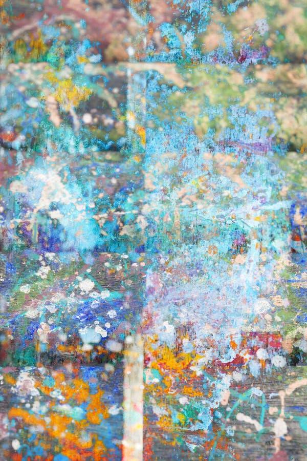 Le fond artistique abstrait avec éclabousse de la peinture photographie stock