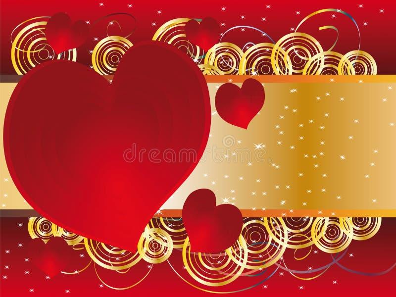 Le fond au jour des amoureux illustration libre de droits