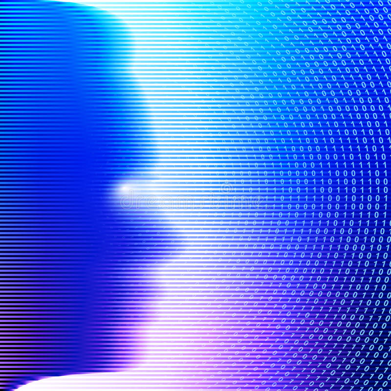 Le fond a barré le visage de femme de personnes de silhouette de code binaire illustration de vecteur
