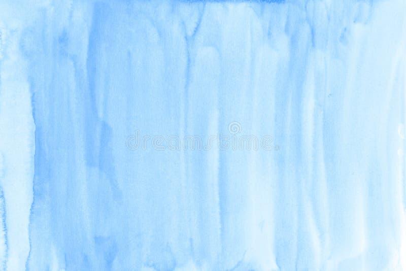 Le fond bleu d'aquarelle d'hiver sur la texture de papier peut employer comme te photos stock