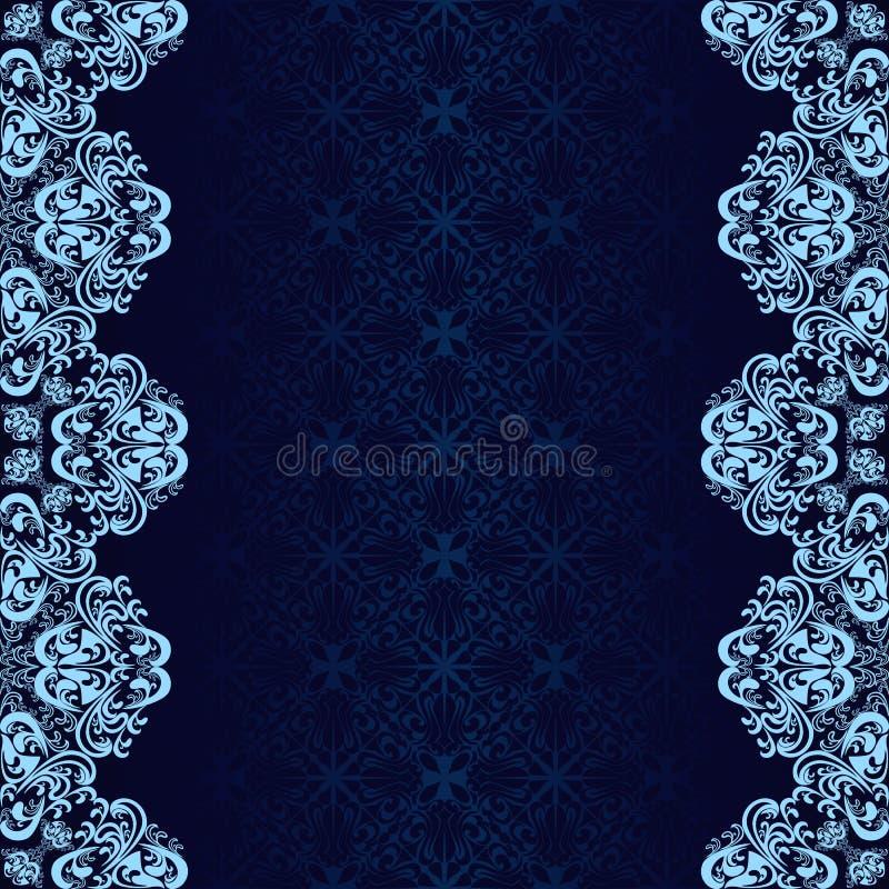 Le fond bleu-foncé a décoré un cadre bleu. illustration libre de droits