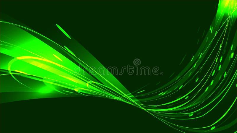Le fond clair lumineux lumineux électrique de texture d'énergie cosmique magique lumineuse abstraite verte des bandes, lignes éne illustration libre de droits