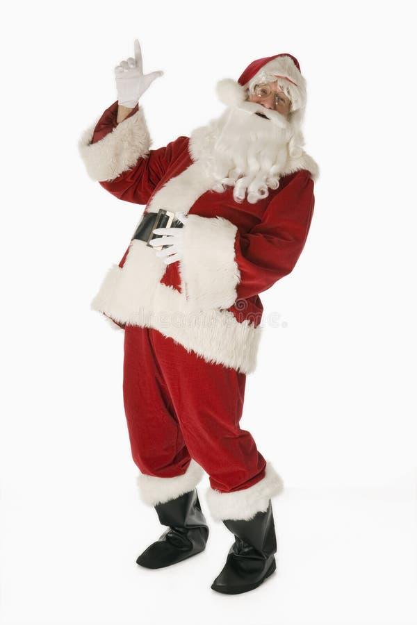 le fond Claus a isolé le blanc de Santa images libres de droits
