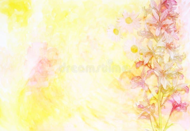 Le fond coloré de fleur a fait le ‹d'†de ‹d'†avec des filtres de couleur image libre de droits