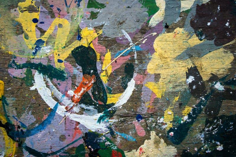 Le fond coloré a peint le fond abstrait pour votre conception photographie stock