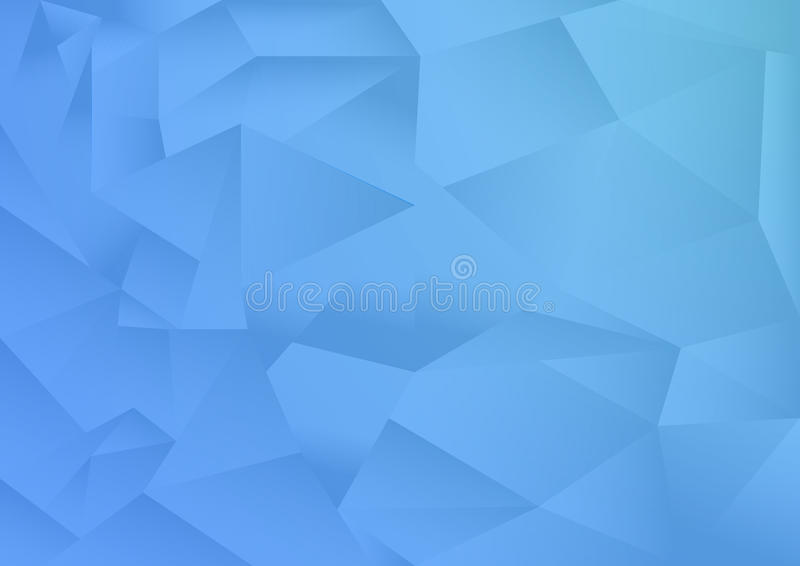 Le fond d'abrégé sur modèle de polygone, thème bleu, vecteur, illustration, l'espace de copie pour le texte illustration libre de droits