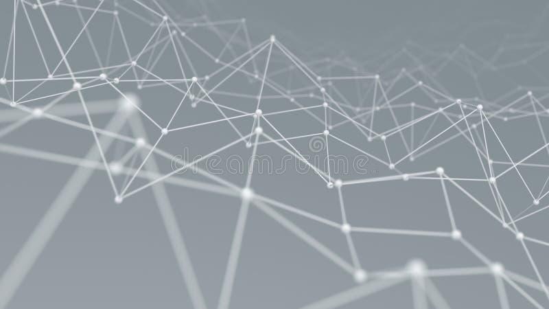 Le fond 3D de forme de réseau de Wireframe rendent illustration stock