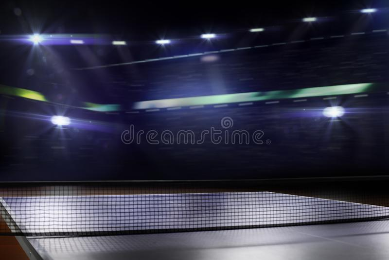 Le fond 3d de ping-pong de ping-pong rendent image libre de droits