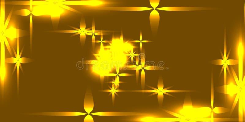 Le fond d'or de vecteur avec le métal léger brillant se tient le premier rôle illustration de vecteur