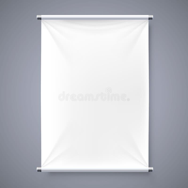 Le fond d'enseigne de bannière de tissu illustration de vecteur