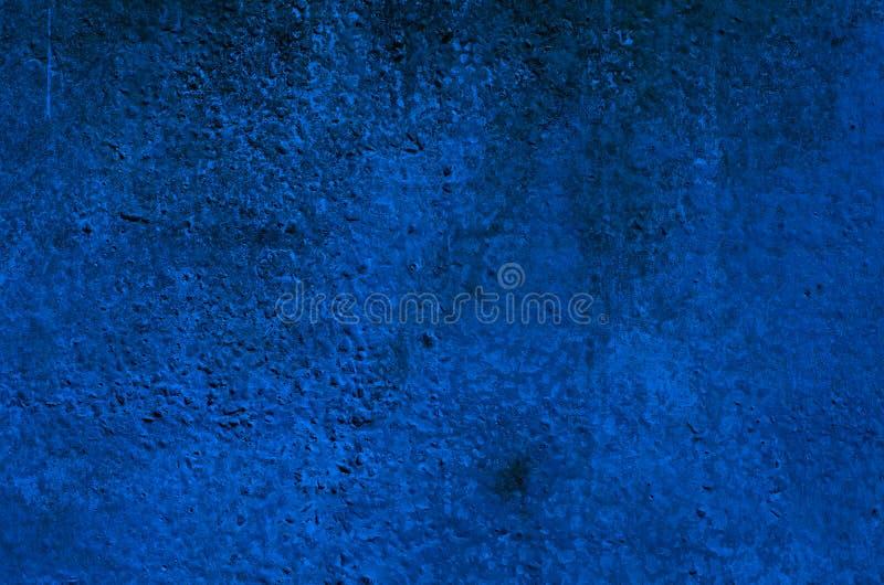 Le Fond DUn Stuc Bleu Profond A Enduit Et A Peint LExtrieur La
