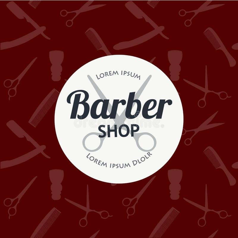 Le fond de Barber Shop ou de coiffeur a placé avec des ciseaux de coiffure, brosse de rasage, le rasoir, peigne pour le vecteur d illustration libre de droits