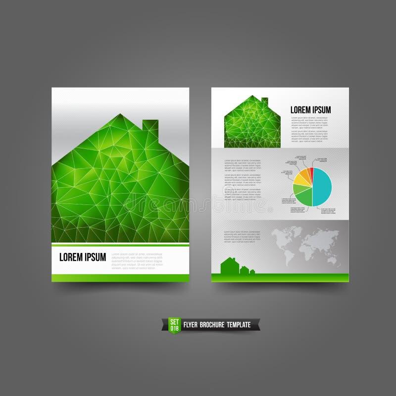 Le fond de brochure d'insecte templated le concept et l'écologie de 018 maisons illustration stock