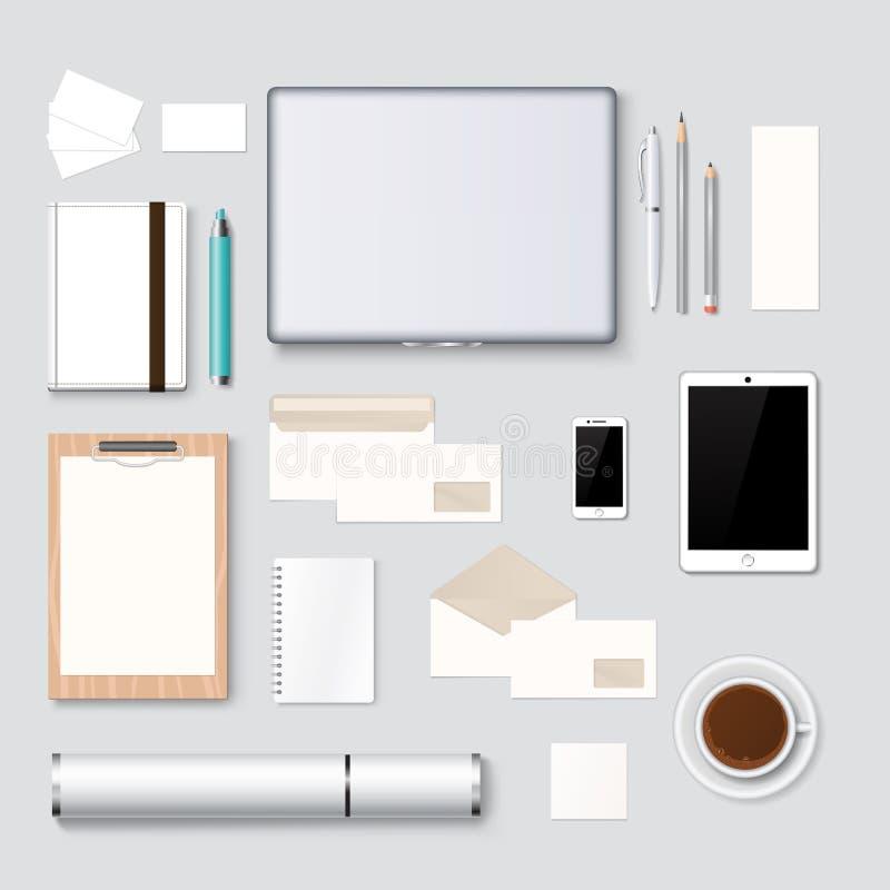 Le fond de calibre de maquette d'en-tête de lettre et de web design dirigent l'illustration illustration libre de droits