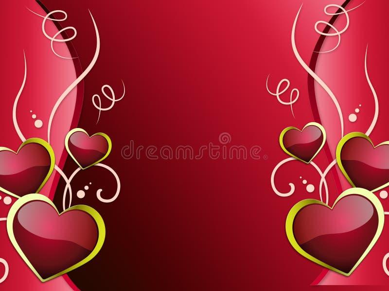 Le fond de coeurs montre l'attraction et la passion d'affection illustration libre de droits