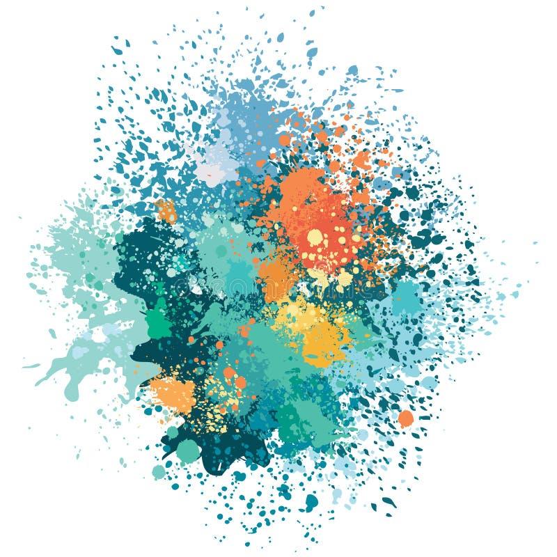 Le fond de couleur de la peinture éclabousse illustration libre de droits