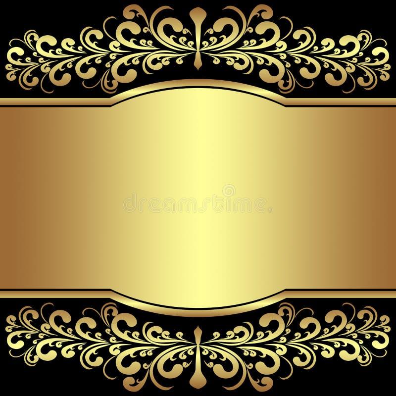 Le fond de luxe a décoré les frontières royales d'or. illustration de vecteur
