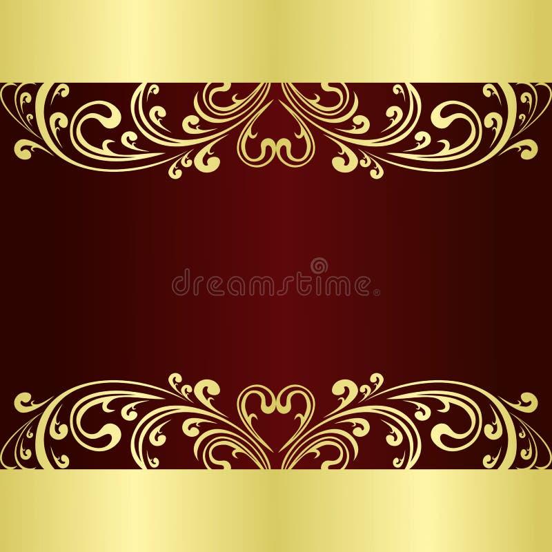 Le fond de luxe a décoré un ornement d'or illustration de vecteur