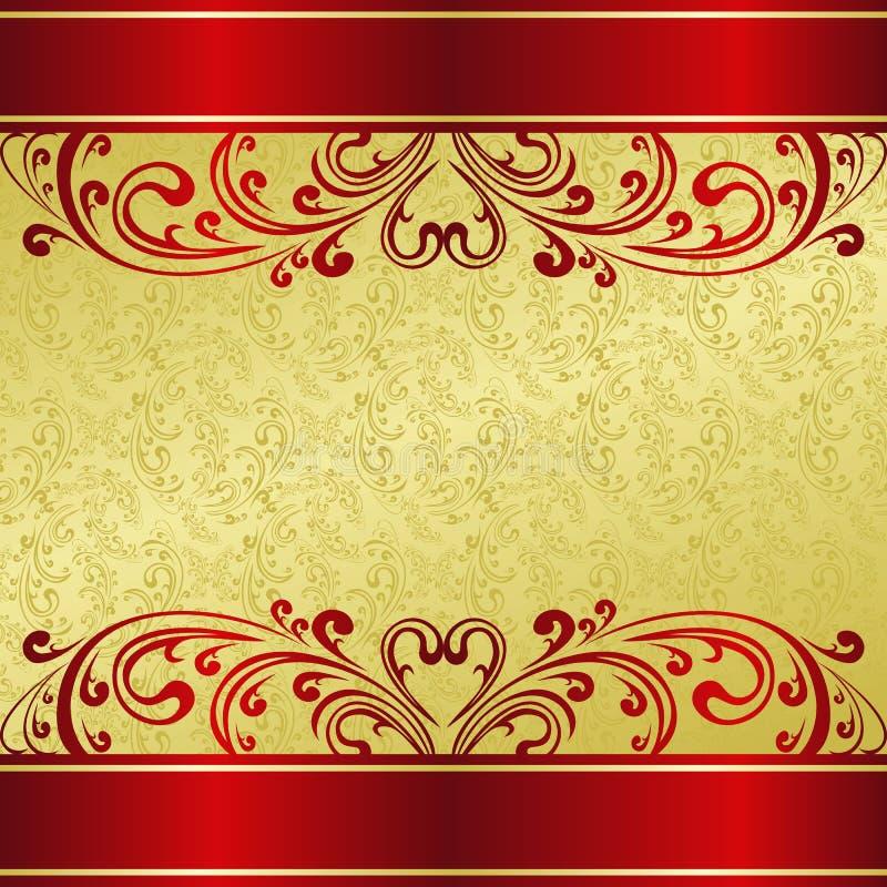 Le fond de luxe a décoré un ornement de cru. illustration stock