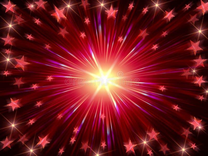Le fond de Noël rayonnent en rouge et violet illustration libre de droits