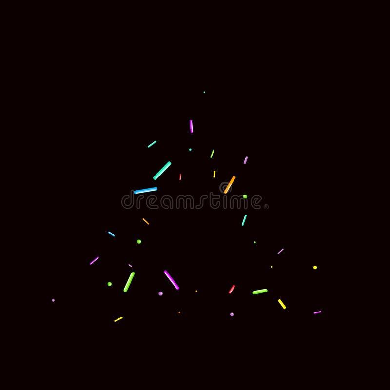 Le fond de partie arrose grenu Confettis doux illustration libre de droits