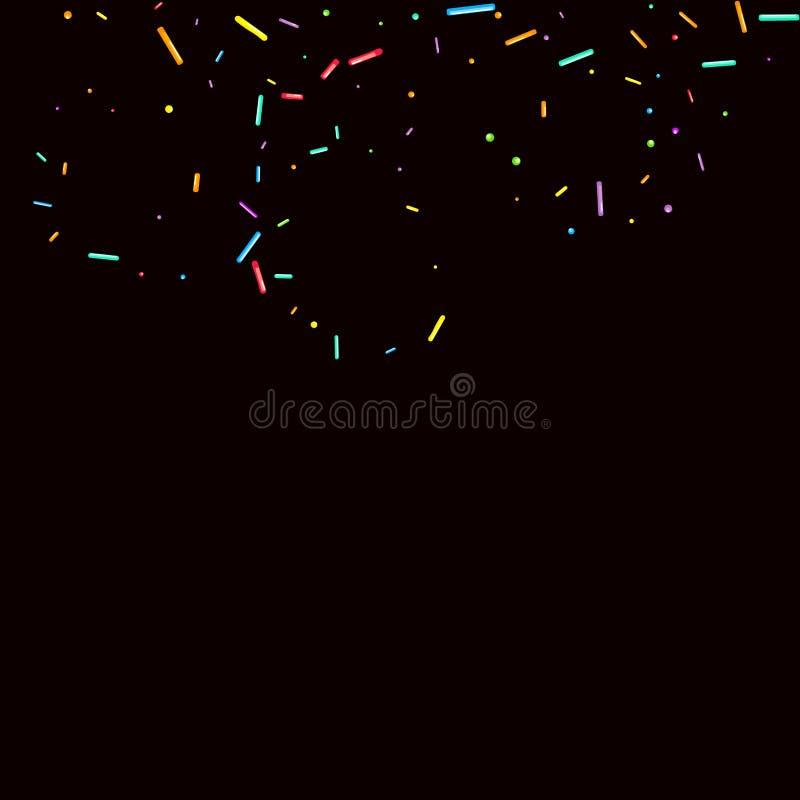 Le fond de partie arrose grenu Confettis doux illustration stock