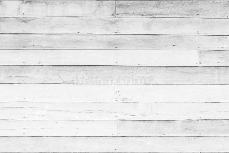 Le fond de texture de planche en bois ou en bois blanc tous les meubles de fissuration antiques a peint le cru blanc superficiel  images stock