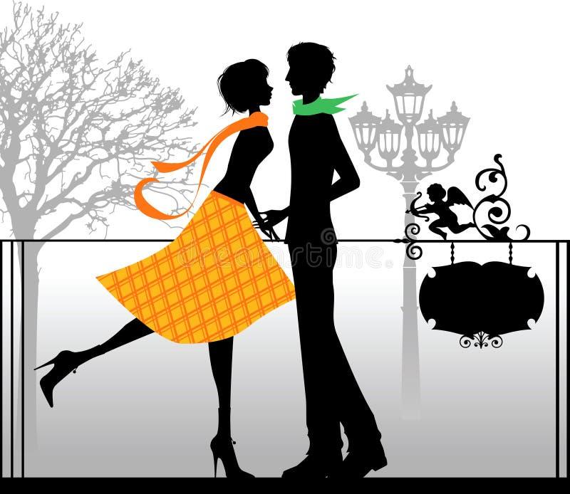 Le fond de Valentine. illustration libre de droits