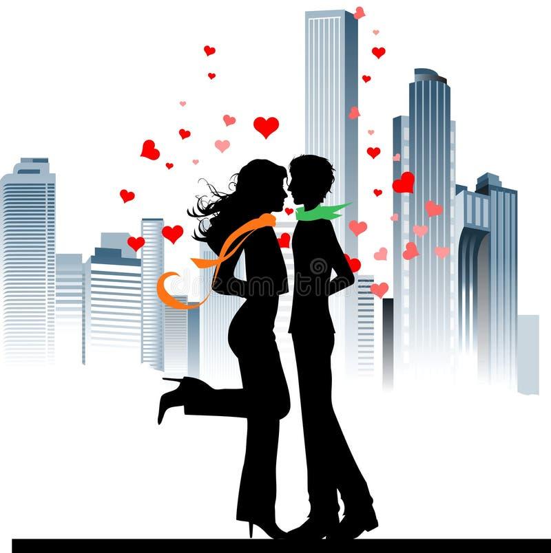 Le fond de Valentine. illustration de vecteur